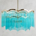 Turquoise Arched Waterfall Chandelier