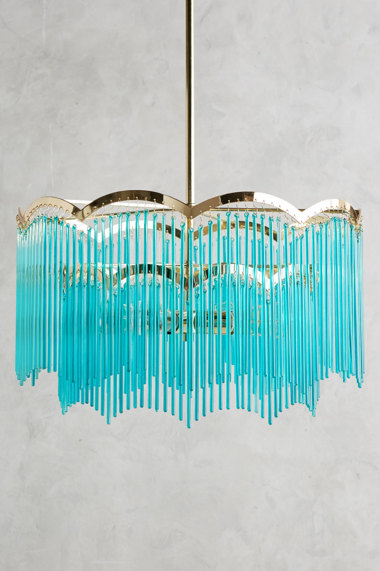 Sima Modern Floating Glass Bubbles Aqua Chandelier