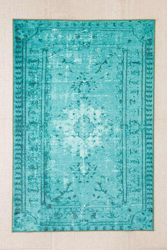 Turquoise Chroma Overdyed Rug