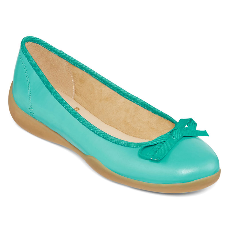 Turquoise Fiorella Ballet Flats