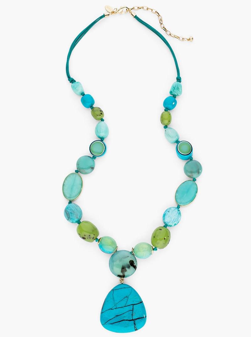 Turquoise Hilary Pendant Necklace