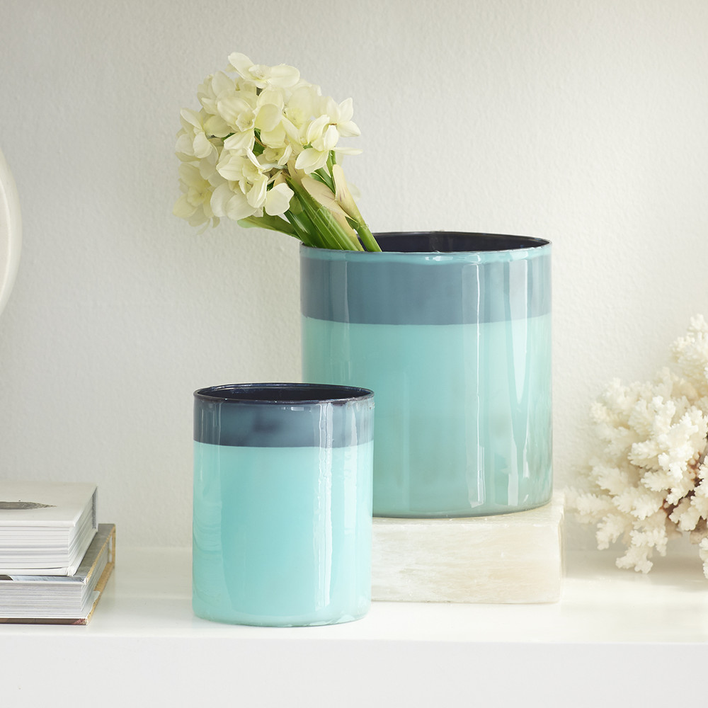 Blue Colorblock Candleholders