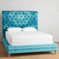 Teal Rug-Printed Orianna Bed