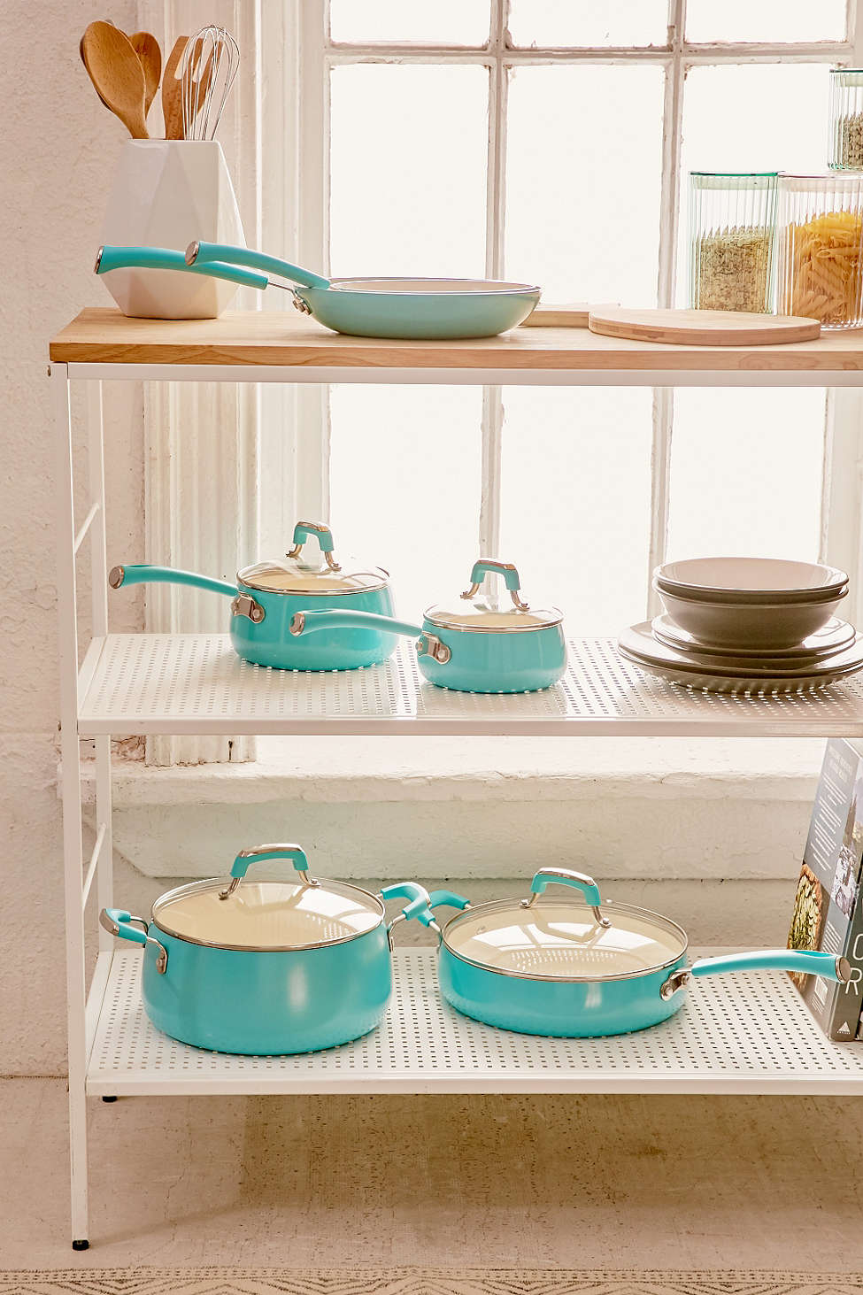 Turquoise 10-Piece Pop Teal Cookware Set