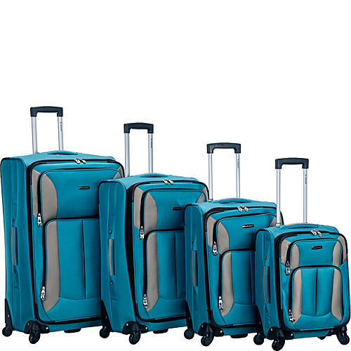 4 Piece Quad Spinner Luggage Set
