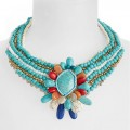 Turquoise Couture Collar Necklace