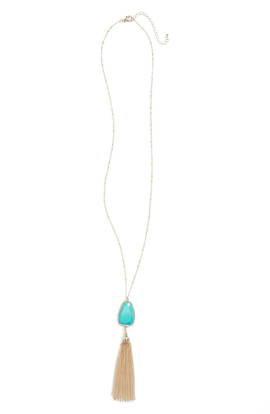 Turquoise Mother of Pearl Pendant Necklace