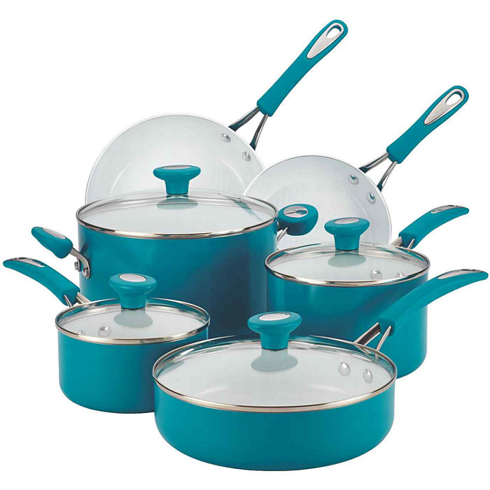 Marine Blue Ceramic CXi 12-pc. Nonstick Cookware Set