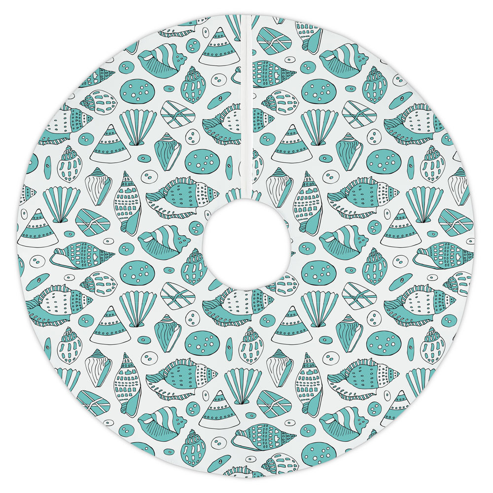 Aqua Shells Tree Skirt