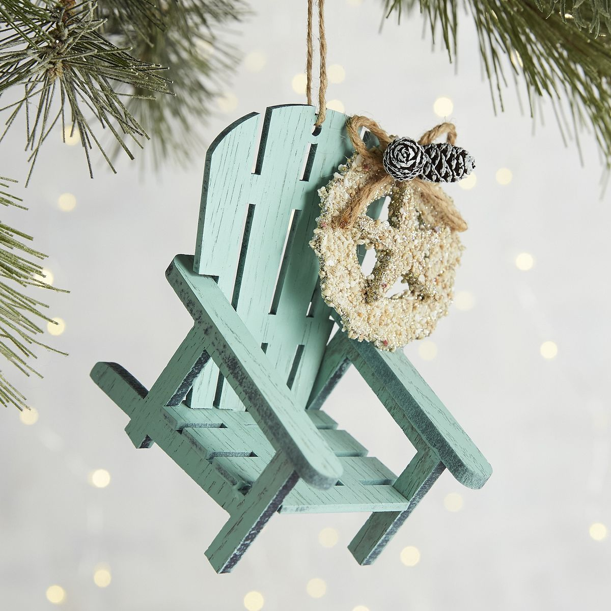 blue beach chair ornament - Coastal Christmas Decorations For Sale
