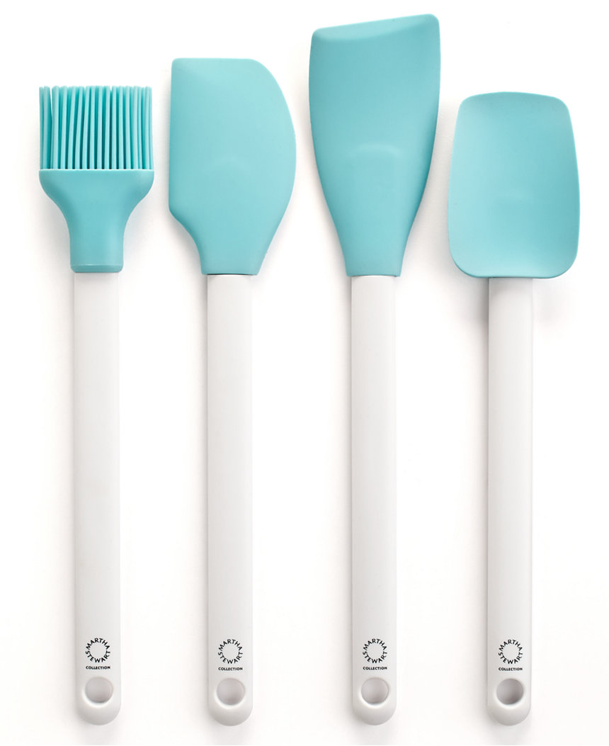 Martha Stewart Collection Set of 4 Blue Kitchen Utensils