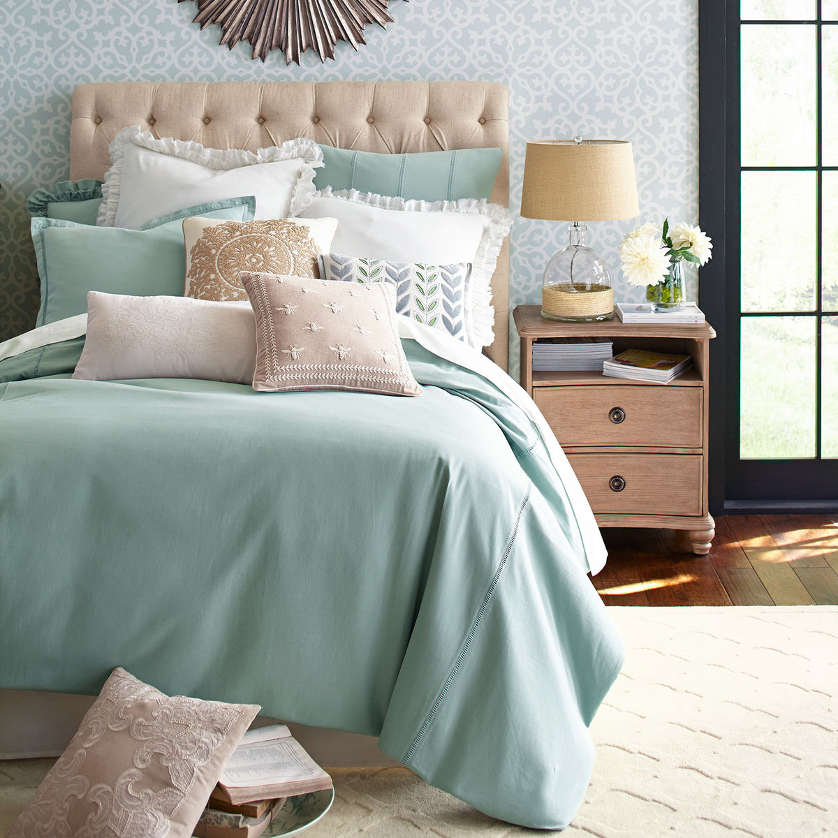 Sorrento Blue Duvet Cover & Sham