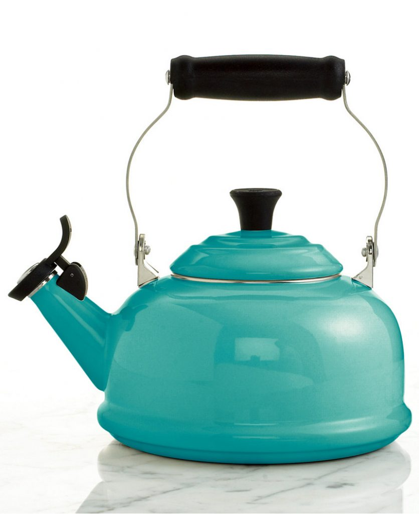 Turquoise Le Creuset Classic Whistling Tea Kettle