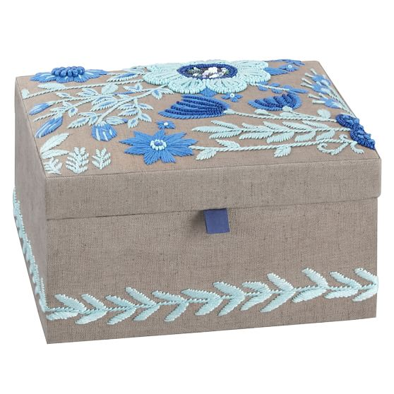 Lennon & Maisy Tapestry Jewelry Box