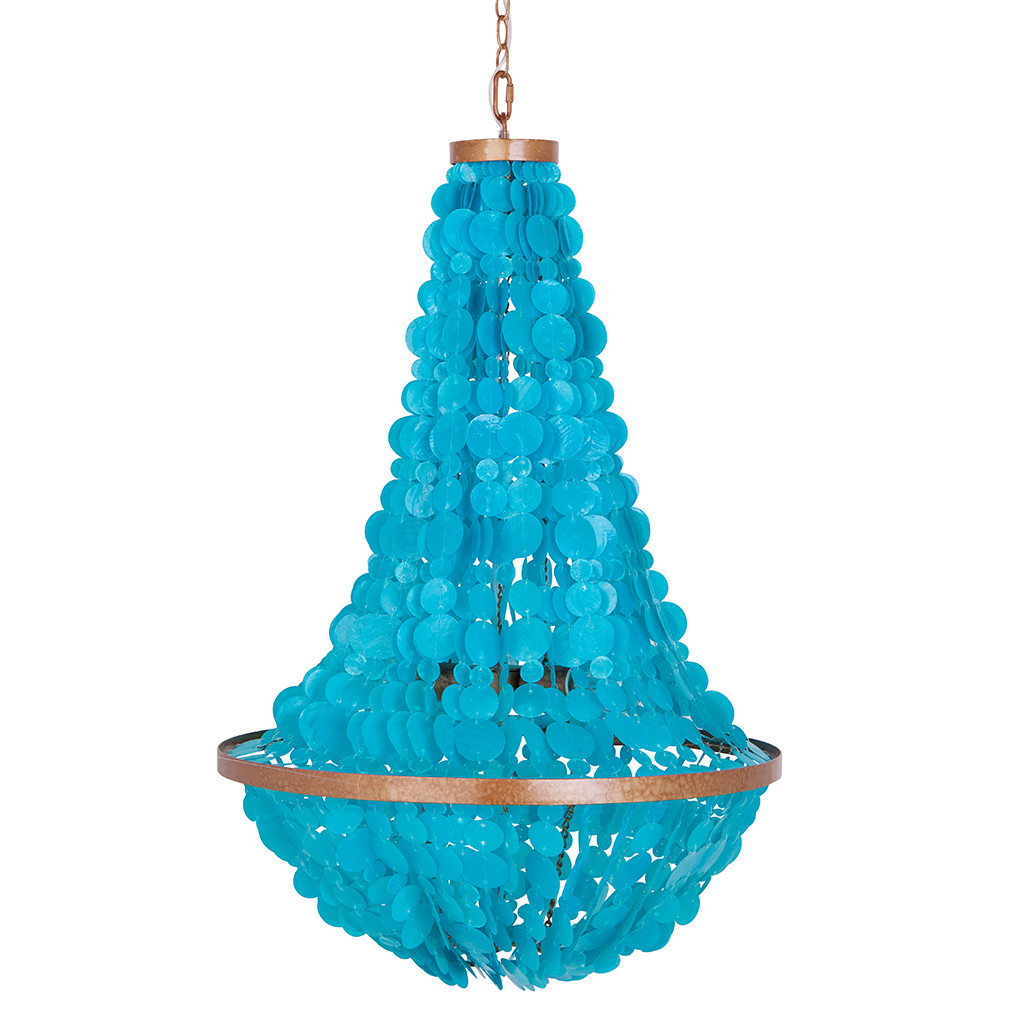 manor 3 light mini chandelier - Turquoise Chandelier Light