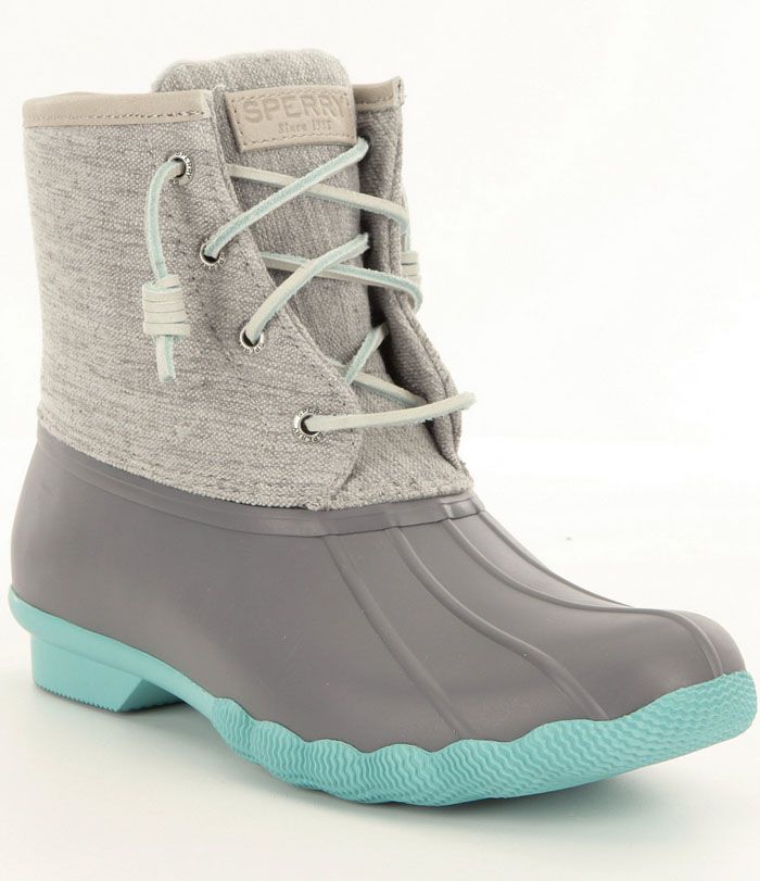 Sperry Saltwater Turquoise Pop-Outsole Waterproof Cold-Weather Duck Boots